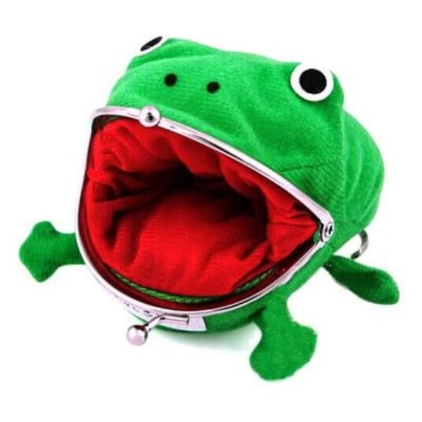 Frog Coin Purse Change Pouch Wallet Small Money Bag | Naruto Cosplay wallet