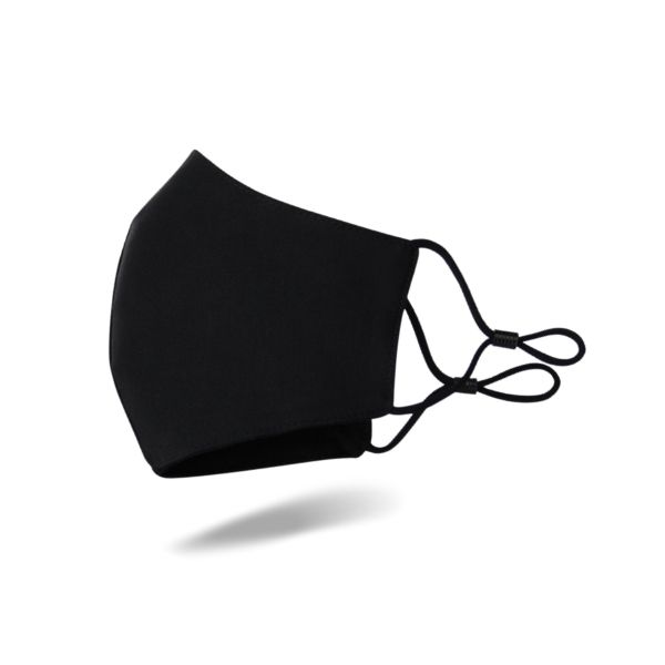 Adjustable mask cotton washable black mask for men and women dustproof sunscreen two-layer printing for adults